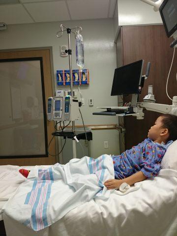 ハワイで子供が病院へ行く。カピオラニ病院の治療